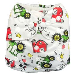 IXYVIA Baby Cloth Diapers Resizable Adjustable Washable Pock