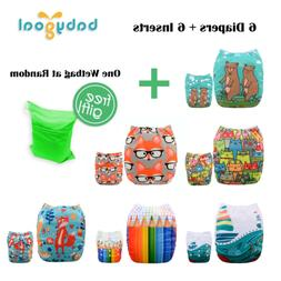 Babygoal Baby Cloth Diapers, Washable Pocket Nappy for Boys