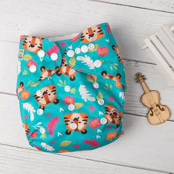 ALVABABY Cloth Diapers Washable Reusable One Size Pocket Nap