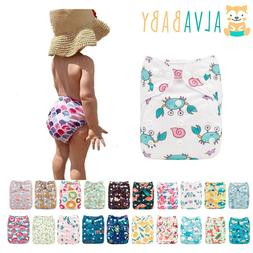 ALVA Baby Cloth Nappies Printing Adjustable Reusable Pocket