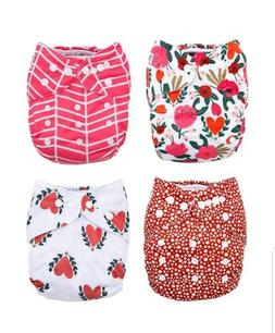 Baby Cloth Pocket Diapers 4 Pack Bamboo Inserts  Nora's Nurs