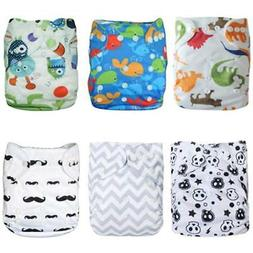 ALVABABY Covers Cloth Diapers Pocket Washable Adjustable Reu