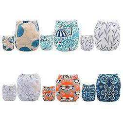 ALVABABY Covers Pocket Cloth Diapers Reusable Washable Adjus