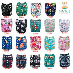 🔥 ALVABABY🔥Baby diapers Cloth Pocket Diapers Reusable
