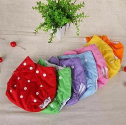 Baby Diapers Grid Cotton Training Pant Cloth Washable Reusab