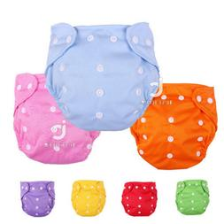 Baby Diapers Washable Reusable Nappies Grid Cotton Training
