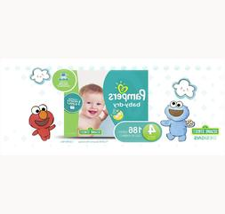 PAMPERS BABY DRY DISPOSABLE BABY DIAPER SIZE 4, 186 COUNT, O