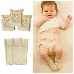 Baby Fitted Cloth Diapers with Diaper Booster Pads Set, 100%