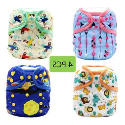 Baby Girls Boys One Size Cloth Diaper Cover for Prefolds wit