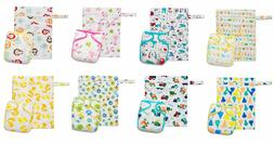 KAWAII BABY ONE SIZE BAMBOO CHARCOAL CLOTH DIAPER + 2 INSERT