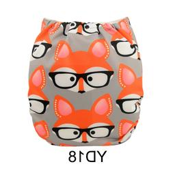 ALVABABY One Size Cloth Diapers Reusable Pocket Nappy + 1 In