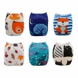Babygoal Baby Pocket Cloth Diapers, Adjustable Reusable Napp