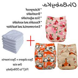 Baby Pocket Diapers Adjustable Reuseable Washable Cloth Diap