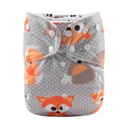 ALVA Baby Reusable Big Size Cloth Diaper Pocket Nappy +1 Mic