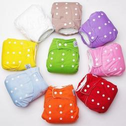 Baby Reusable Infant Nappy Cloth Diapers Soft Covers Washabl