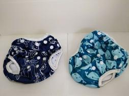 baby swim diapers 2pcs one size reuseable