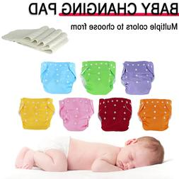 Baby Washable Reusable Cloth Diapers Adjustable Nappies 5 Pc