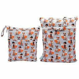 Baby Wet/Dry Bag Splice Cloth Diaper Waterproof Bags Large a