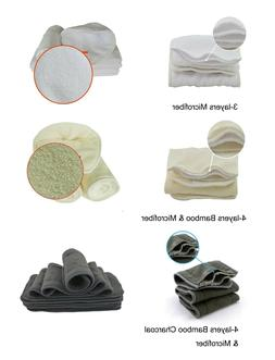 Bamboo Charcoal & Bamboo Fiber Insert Changing Pad For Pocke