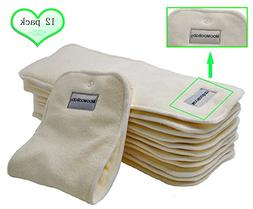 Bamboo Cloth Diaper Inserts-BumGenius Reusable Liners With a