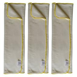 EcoAble 3-Pack Bamboo Cotton Prefold Inserts for Incontinenc