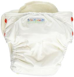 BabyKicks Basic One Size Snap Closure Cloth Diaper - White