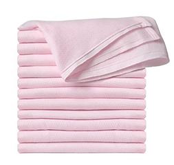 Clips N Grips® Birdseye Flatfold Cloth Diapers, Pink, 6 Cou