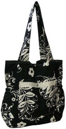 Loveybums Black and White Floral Cloth Diaper Bag
