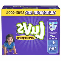 Branded Luvs Ultra Leakguards Diapers Size 4, 160 ct.