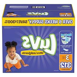 Branded Luvs Ultra Leakguards Diapers - Diaper Size Size 3 -
