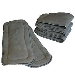 LBB Cloth Diaper Inserts 5-Layer Charcoal Bamboo Inserts Nat