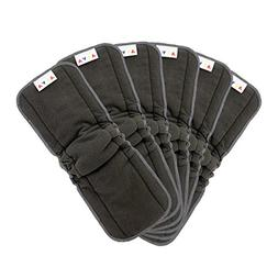 AlVABABY Charcoal Bamboo Inserts with Gussets,Natures Cloth