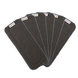 ALVABABY Charcoal Bamboo Inserts,Natures Cloth Diaper liner,