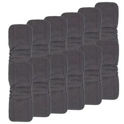 Charcoal Bamboo Inserts with Gussets,Cloth Diaper Liner,5-La