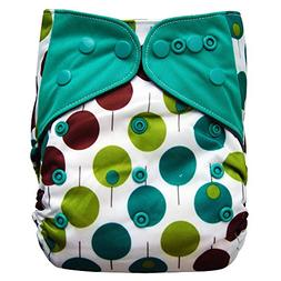 EcoAble Baby Charcoal Bamboo All-In-One AIO Cloth Diaper w/P