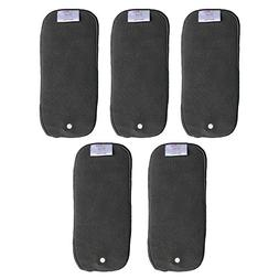 EcoAble Baby Newborn Charcoal Bamboo Snap-in Inserts, Size 1
