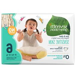 Seventh Generation Free & Clear Baby Diapers, Stage 6, 35+ l