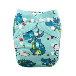 Babygoal Baby Cloth Diaper, One Size Adjustable Reusable Poc