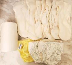 Grovia Cloth Diaper 4 Lot with Microfleece Liners 20 - Free
