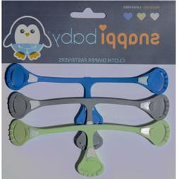 Snappi Cloth Diaper Clips - Replaces Diaper Pins - Use with
