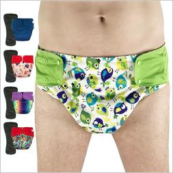 Cloth Diaper Cover with Insert for Big Kids, Teens and Adult