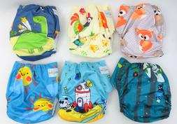 Babygoal Cloth Diaper Covers for Boys, Adjustable Washable 6