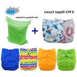 Babygoal Cloth Diaper Covers for Boys, One Size Adjustable R