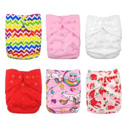 Babygoal Cloth Diaper Covers for Girls,Baby Adjustable Reusa