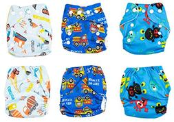 Newborn Cloth Diaper 6-Pack Covers With Inserts