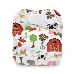 CLOTH DIAPER THIRSTIES NATURAL NEWBORN ALL IN ONE HOOK AND L