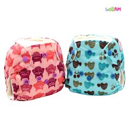 MABOJ Cloth Diaper One Size Adjustable Washable Reusable for