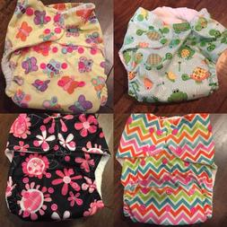 Cloth Diaper One Size All in One Pocket - Fun Kid Colors Ani