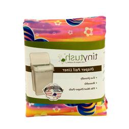 Cloth diaper pail liner /extra large reusable bag- Print Sun