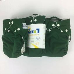 Fuzzibunz Cloth Diaper Perfect Size Medium Lot Pocket Forest